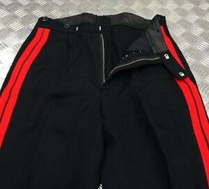 Genuine British Military No1 RLC Mess Dress Uniform Trousers Double Red Stripes