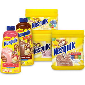 Nesquik milkshake mix  all flavors (variation listing)