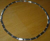 Tolle Fossil 925 Silber Massiv - Halskette  länge 43 cm - 38,5 gr. schwer - 5 mm