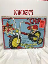 "Vintage 1981 Empire ""CHIPS"" TV SHOW Side Walk Trike Ponch & Jon Very Rare Look"