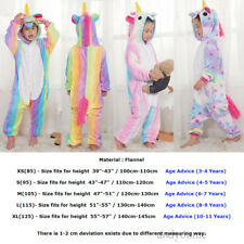 Kids Rainbow Unicorn Kigurumi Animal Cosplay Costume  Pajamas Sleepwear