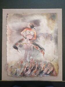 Francisco toledo, hermosa pintura, firmada
