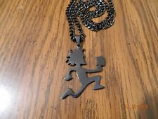 Black HATCHETMAN Polished Stainless Steel pendant w/matching 5mm cuban chain
