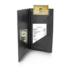 Bill Presenter 23 x 13cm Classic Black Receipt Bill Check Wallet Cover Pub Bar