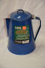 Blue & White Speckle Enamel aluminum coffee percolator 9 cup (ref#37)