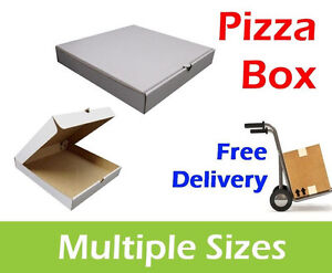 100 WHITE Pizza Boxes 8 9 10 12 14 Inch Postal Boxes Pizza Box in Multiple Sizes