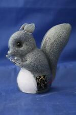 LANGHAM GLASS CRYSTAL HAND-MADE SMALL GREY SQUIRREL FIGURE NEW / BOXED