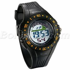 Mens Fashion Sports Multi-fuction Waterproof PVC Band Digital Wristwatch Watches