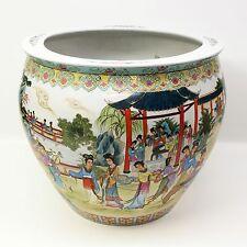 Huge Chinese Jingdezhen ware Hand Painted White Porcelain Vase Geisha Girls Fish