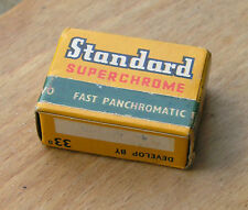 "Standard Superchrome S.10 roll film 1 5/8"" x 1 1/4"" format 2 rolls outdate 1970"