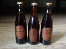 More details for 3 x vintage mini guinness bottles extra stout (ideal for home bar man cave)