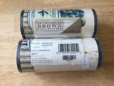 Wall Paper Border David Carter BROWN COLLECTION 2 Rolls 10yds Each