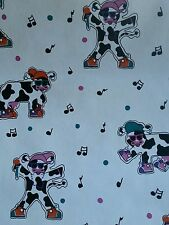 Wallpaper Black White Cows With Sun Glasses Decorative Vintage 27ft New In Pack