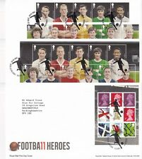 More details for first day cover gb 2013 football heroes 11 [tallents house] typed address uk