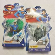 LOT Superman Returns figures Crystal Escape and Missile launching Lex Luthor