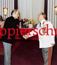 A69 Armeegeneral Erich Mielke Dynamo Gratulation 35 Jahre MfS ca. 23x20 cm