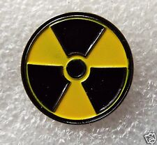 Radioactive Symbol Logo Biker enamel pin / lapel badge