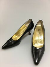Bruno Magli Classic Pumps Leather Black  Size 7 AAAA Made In Italy