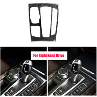 RHD Carbon Fiber Gear Shift Panel Cover Trim Sticker For BMW X5 X6 F15 F16 14-17
