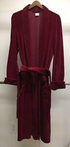 B19 VTG Brooks Brothers Medium Red Velvet Thick Smoking Robe RARE