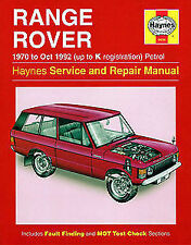 Land Rover Range Rover Workshop Manuals Car Manuals and Literature