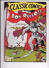 Classic Comics #11 Don Quixote May 1943 original edition