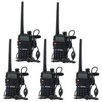 5 PCS UV-5R VHF&UHF BaoFeng  Dual-Band DTMF CTCSS FM ham 2 way 5R radio