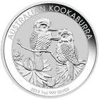 2013 1 Oz Silver $1 Australian KOAKABURRA BU Coin.