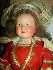 Early French, Petitcollin celluloid, dressed jointed costume doll, circa 1920s