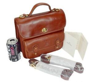 NWT Vintage Ghurka Marley Hodgson 191 O'ROURKE Chestnut Vintage Leather 38 Brief