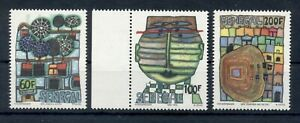 SENEGAL*1979 * compl. set 3 stamps MNH** Hundertwasser Paintings - Mi.No 705-707