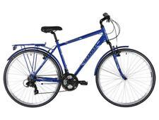 Biciclette ibrida blu in alluminio