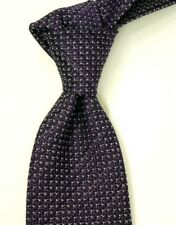 "$250 NWT TOM FORD Woven Black w/ White Pin Dots Silk Neck Tie Italy 3.25""W"