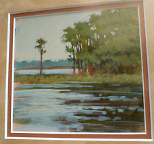 SUSAN DAUPHINEE, LISTED PLEIN AIR IMPRESSIONISM TILE FLORIDA IMPRESSIONIST FL