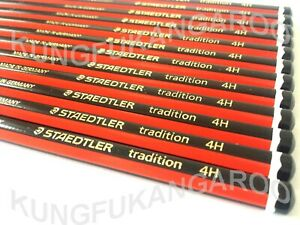 12 x BOXED - 4H STAEDTLER TRADITION PENCILS DRAWING ART SKETCHING DESIGN JOINERY