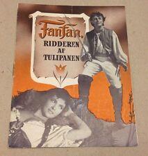 """Fanfan la Tulipe"" Gina Lollobrigida Philipe Danish Vtg Original Movie Program"
