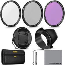 58MM HD UV / CPL Polarizer / FLD Filter Kit + LENS HOOD FOR CANON 18-55mm Lens