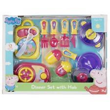 PEPPA PIG Cena Set con Placa Kids Play Set juguete de regalo oficial de cocción