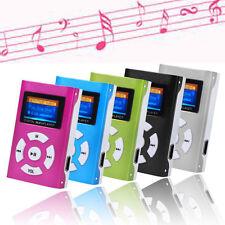 5-Colore USB Mini MP3 Player LCD Screen Support 32GB Micro SD TF Card Free Ship