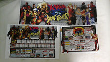 (BACKLIT) CAPCOM X-Men vs Street Fighter Arcade Marquee Insert Art set CPS2