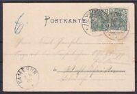 DR Mi Nr. 55 MeF auf toller AK Gruß aus Wolfenbüttel - Kamerun 1900