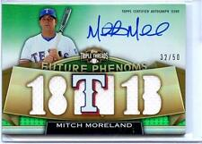 2011 TRIPLE THREADS MITCH MORELAND AUTO GAME USED 32/50
