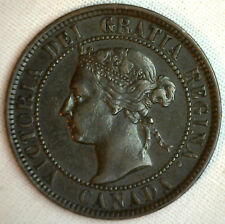 1901 Copper Canadian Large Cent Coin 1-Cent Canada XF #13