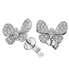 0.50ct F VS Diamond Butterfly Earrings in 18ct White Gold (for pierced ears)
