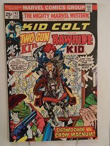 Marvel MIGHTY MARVEL WESTERN #43 (1976) Two-Gun Kid, Rawhide Kid, Herb Trimpe