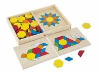 Melissa & Doug - Wooden Pattern Blocks and Boards Set