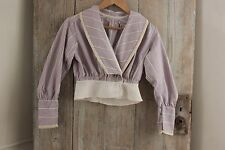 Antique woman's shirt Victorian  French woman's clothing purple cotton