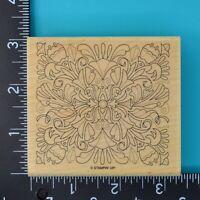 Stampin Up Fine Flourish Design Wood Mounted Rubber Stamp