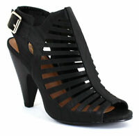 My Delicious Shoes Women's Shaky Black Nubuck Synthetic pumps-shoes