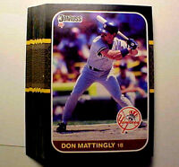 1987 Donruss #52 DON MATTINGLY ~ 20 CARD LOT ~ HOF?  YANKEES STAR 1ST BASEMAN